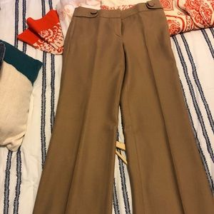 J. Crew Favorite Fit Camel Trousers 4Tall